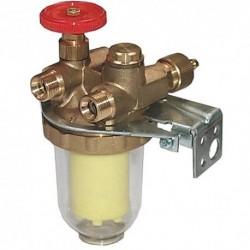 Oilpur filtr oleju opałowego z nawrotem DN10 3/8GW/GZ, z wkładem z tworzywa Siku