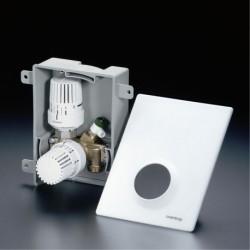 Unibox plus, kombinacja termostat Uni LH plus ogranicznik temperatury RTLH, biały