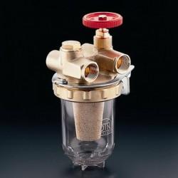 Oilpur filtr oleju opał. do systemów dwurur. 3/8GW, wkład z brązu spiekanego Sika 0 50-100µm
