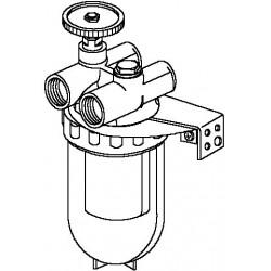 Oilpur filtr oleju opał. do systemów dwurur. 3/8GW, z wkładem z tworzywa Siku 50-75µm