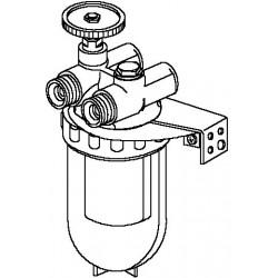 Oilpur filtr oleju opał. do systemów dwurur. 3/8, wkład z brązu spiekanego Sika 0 50-100µm