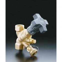 Hydrocontrol VTR. Zawór równoważący DN15, 1/2GW, spiż, otwory zaślepione korkami