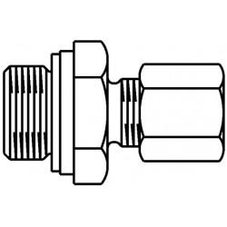Złączka z pierścieniem twardym Ofix-Oil z mosiądzu G3/8x8mm, prosta, wkrętno-skręcana