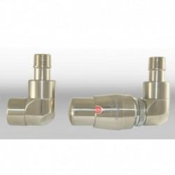Zestaw termostatyczny Lux 1  osiowy prawy - nikiel szczotkowany