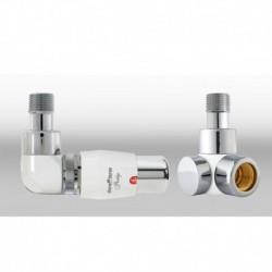 Zestaw termostatyczny Lux 3   osiowy lewy - chrom/biały
