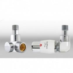 Zestaw termostatyczny Lux 3   osiowy prawy - chrom/biały