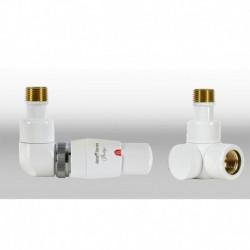 Zestaw termostatyczny Lux 3   osiowy lewy - biały