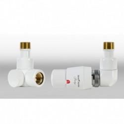 Zestaw termostatyczny Lux 3   osiowy prawy - biały