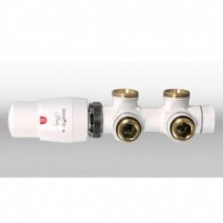 Zestaw TWINS do grzejnika dolno zasilanego o rozstawie króćców 50 mm - biały