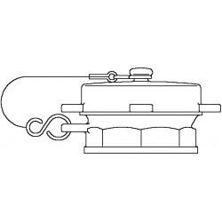 Zamknięcie rury zalewowej 2 x 2 3/4 dla wlewu z uszczelnieniem płaskim